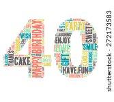 word cloud   happy birthday...   Shutterstock .eps vector #272173583
