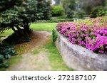 park scene with pink... | Shutterstock . vector #272187107