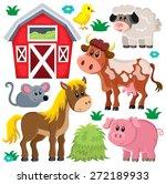 farm animals set   eps10 vector ... | Shutterstock .eps vector #272189933