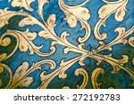 flourish pattern. gold leaf... | Shutterstock . vector #272192783
