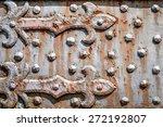 rusty  studded iron plate.... | Shutterstock . vector #272192807