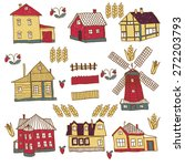 july houses set | Shutterstock .eps vector #272203793