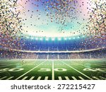 american stadium confetti | Shutterstock . vector #272215427