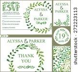 wedding design template set... | Shutterstock .eps vector #272223113