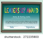 certificate of leadership award ... | Shutterstock .eps vector #272235803