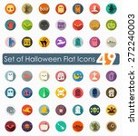 set of halloween flat icons | Shutterstock .eps vector #272240003