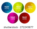 low poly circles | Shutterstock .eps vector #272245877