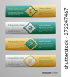 banners template with 3d... | Shutterstock .eps vector #272247467