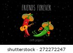 red and green chilli peppers in ... | Shutterstock .eps vector #272272247