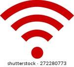 Wifi Symbol On White Background