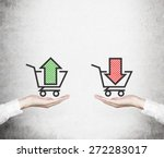 hands offer the choice   'sell... | Shutterstock . vector #272283017