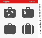 luggage icons. professional ... | Shutterstock .eps vector #272287523