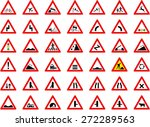 traffic signs big collection  ... | Shutterstock .eps vector #272289563