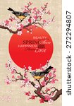 spring banner with blossoming... | Shutterstock .eps vector #272294807