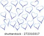 heart shapes   Shutterstock .eps vector #272310317