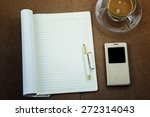 blank notebook waiting for idea ... | Shutterstock . vector #272314043