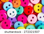 Bright Multicolored Buttons Of...