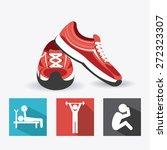 fitness design over white...   Shutterstock .eps vector #272323307