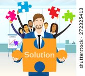 business people group hold... | Shutterstock .eps vector #272325413