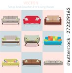 vector sofa and couches for... | Shutterstock .eps vector #272329163