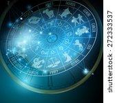 astrology concept. horoscope...   Shutterstock .eps vector #272333537