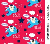 Seamless Pattern With Teddy...