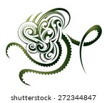octopus as decorative maori... | Shutterstock .eps vector #272344847