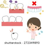 pyorrhea and tooth decay | Shutterstock .eps vector #272349893