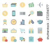 sales and shopping color flat... | Shutterstock . vector #272356577