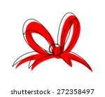 Red Ribbon Bow Drawing