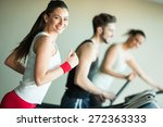 young people training in the gym | Shutterstock . vector #272363333