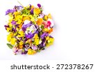 mix edible flower salad over... | Shutterstock . vector #272378267