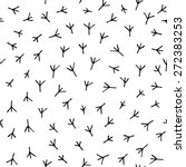 trace of birds  seamless vector ... | Shutterstock .eps vector #272383253