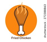 delicious fried chicken | Shutterstock .eps vector #272388863