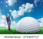 businessman playing golf | Shutterstock . vector #272405717