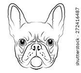 french bulldog head logo or... | Shutterstock .eps vector #272416487