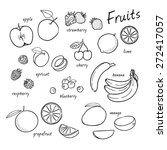 vector set of fruits. fruits... | Shutterstock .eps vector #272417057