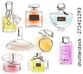 The Set Of Different Perfumes.