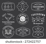 vector american football badges ... | Shutterstock .eps vector #272422757