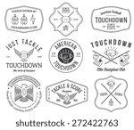 vector american football badges ... | Shutterstock .eps vector #272422763