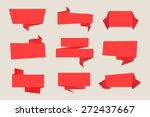 origami banners.paper banners... | Shutterstock .eps vector #272437667