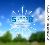 Summer Festival Realistic Badg...