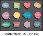 colorful speech bubbles.speech... | Shutterstock .eps vector #272444153