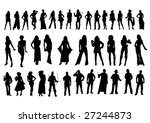 silhouettes bodies | Shutterstock .eps vector #27244873