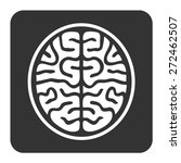 mri brain ct scan flat icon for ... | Shutterstock .eps vector #272462507