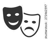 drama and comedy acting masks...