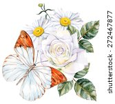 Bright Butterfly  Roses And...