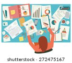 very busy businesswoman working ... | Shutterstock .eps vector #272475167