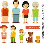 happy family of seven people... | Shutterstock .eps vector #272475773
