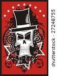 vector skull in a hat | Shutterstock .eps vector #27248755